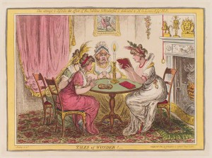 NPG D12778; 'Tales of wonder!' by James Gillray, published by  Hannah Humphrey