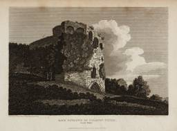 Back Entrance of Caldicot Castle, South Wales, engraved by J. Greig published 1811 by Edward Dayes 1763-1804
