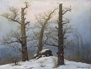 Dolmen in the snow  *oil on canvas  *61 x 80 cm  *1807